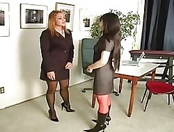 lesbian office seductions - naked girls butts